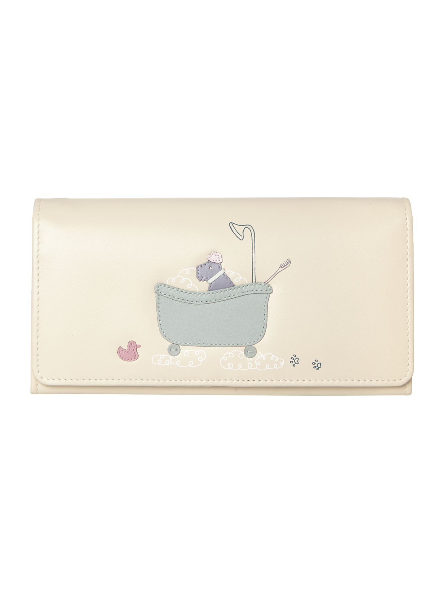 Bubble trouble ivory large flapover matinee purse