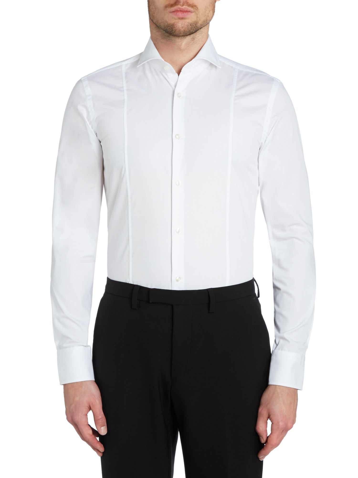Philip slim fit front seamed spread collar shirt