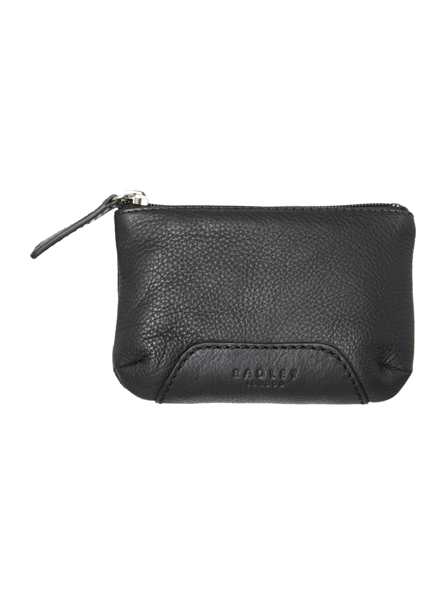 Finsbury black medium zip pouchette