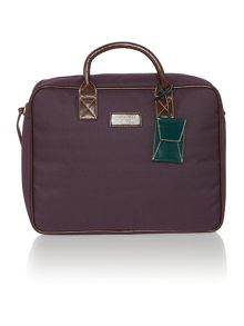 Ted Baker Nylon Leather Document Bag