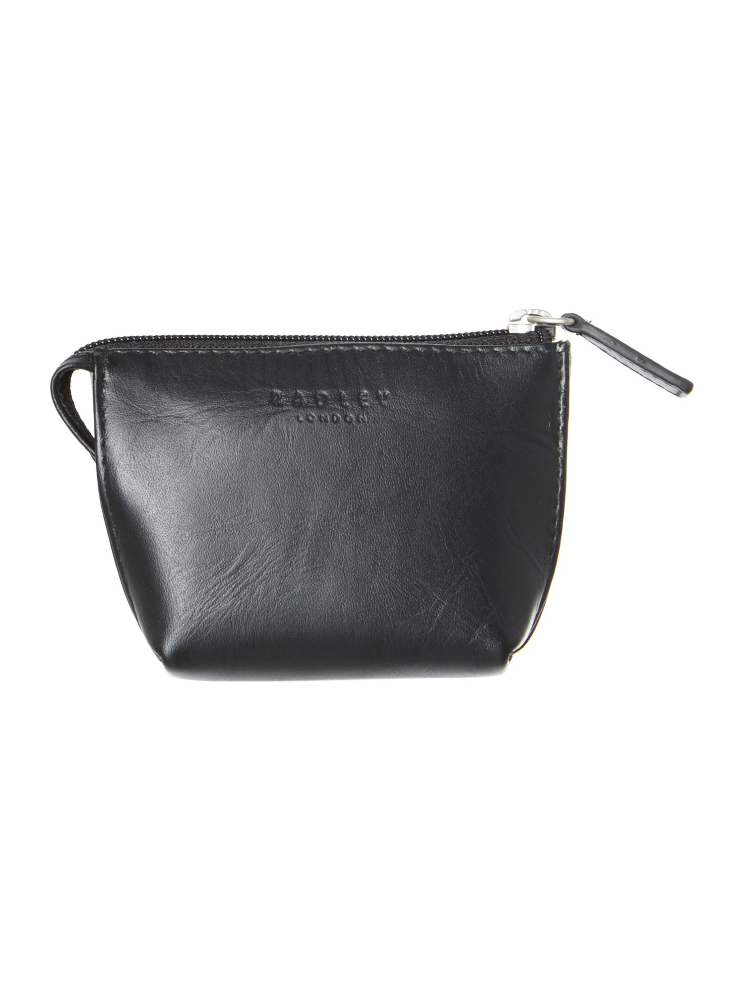 Haritage dog black small zip coin purse