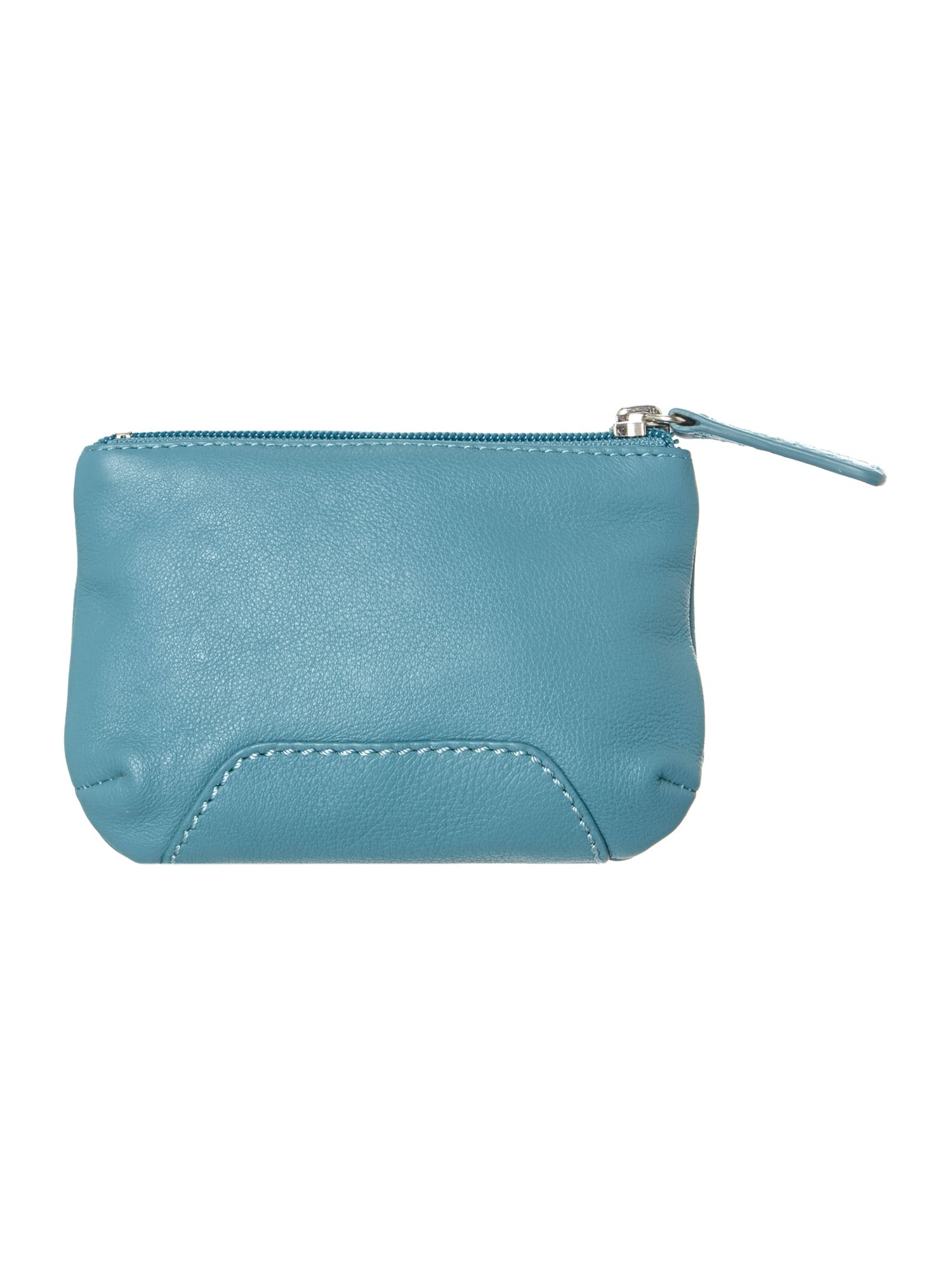 Finsbury blue medium zip pouchette