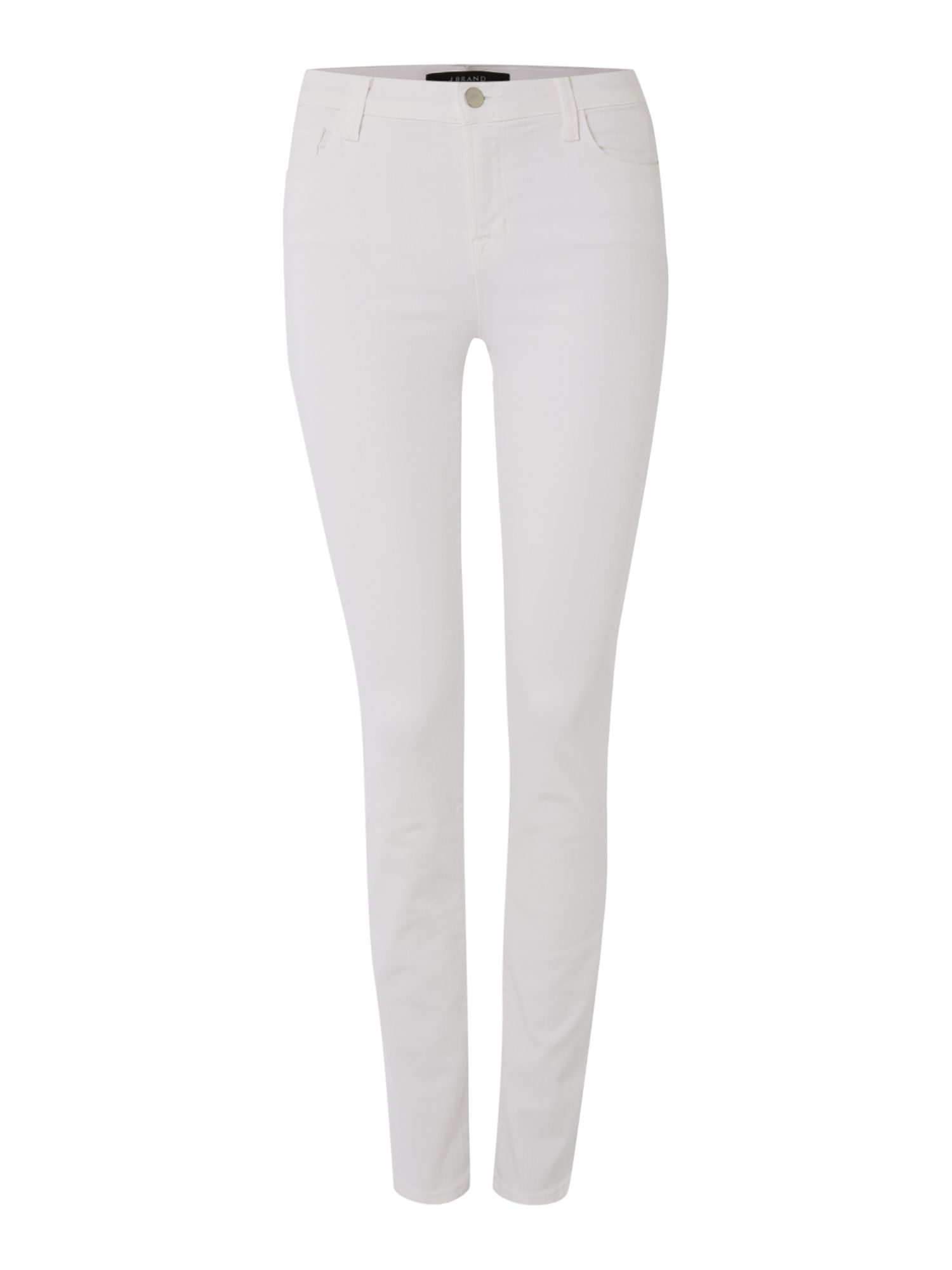811 Mid Rise Skinny Jeans In Blanc, White