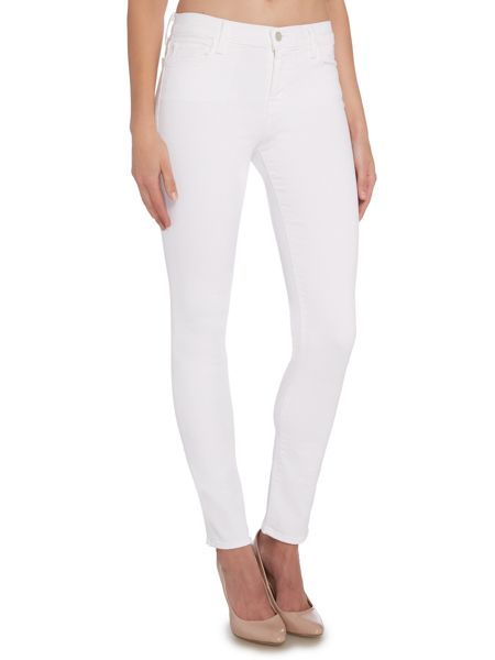 J Brand 811 mid rise skinny jeans in blanc
