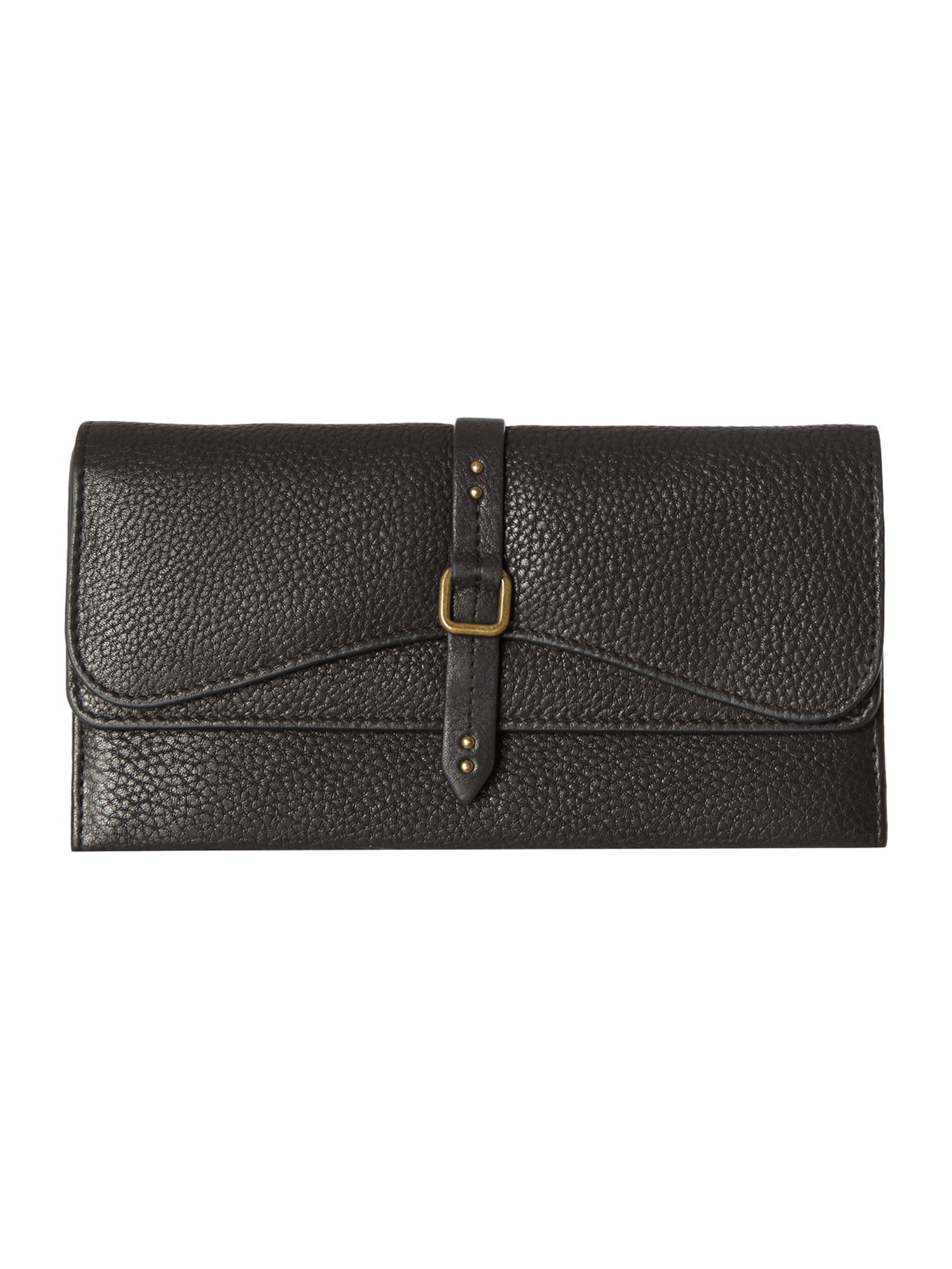 Grosvenor black large flapover matinee purse