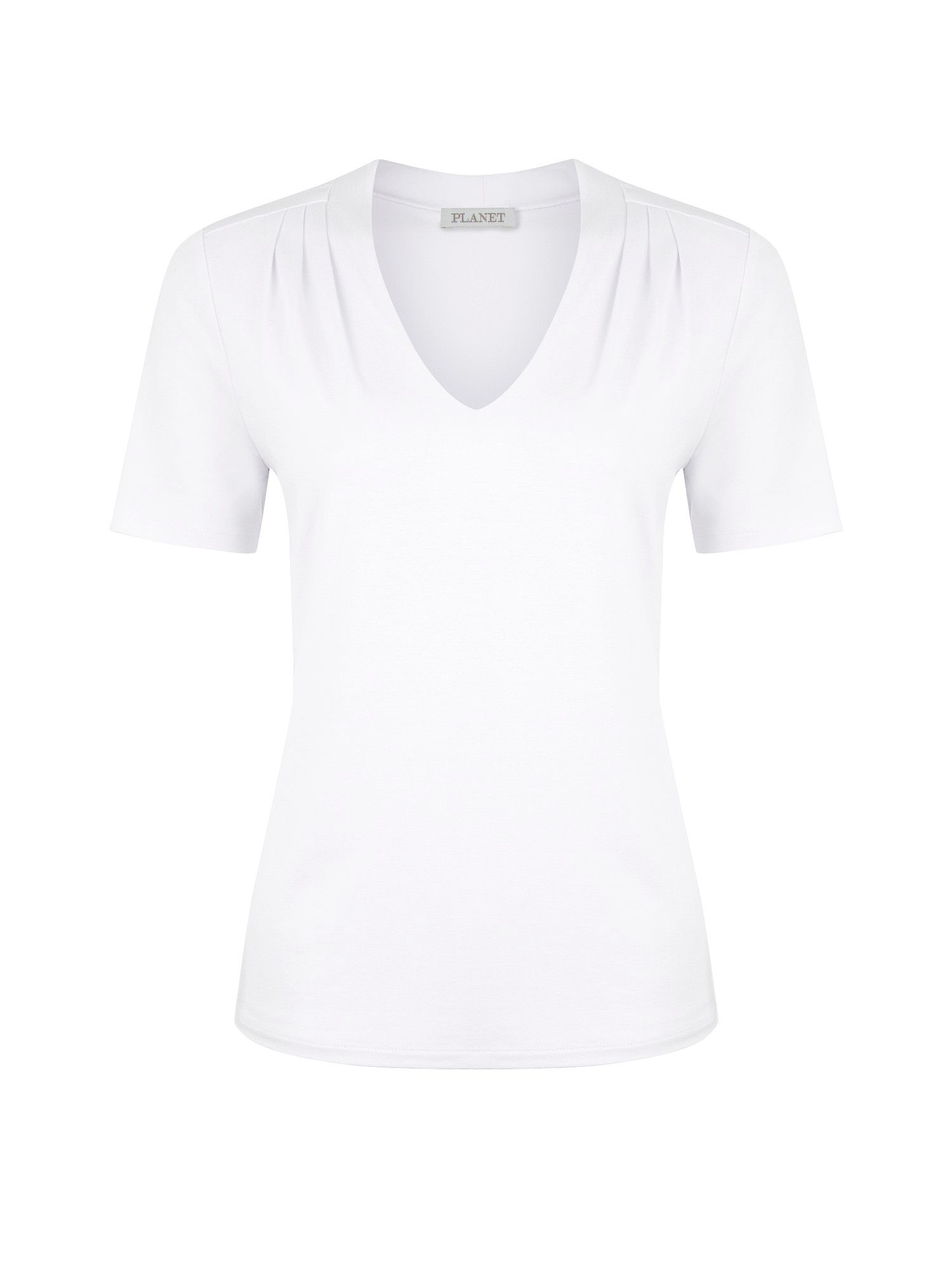 Optic white jersey top