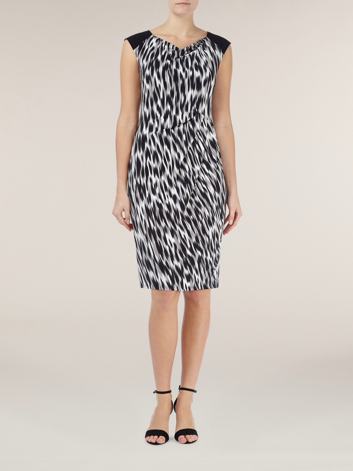 Hazy animal print dress