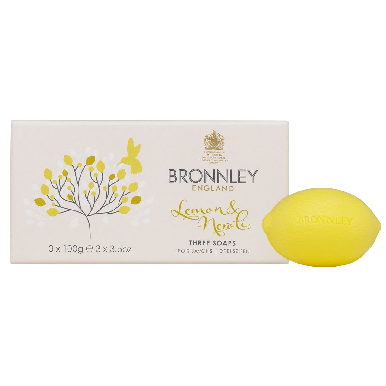 Lemon and Neroli 3x100g Soap