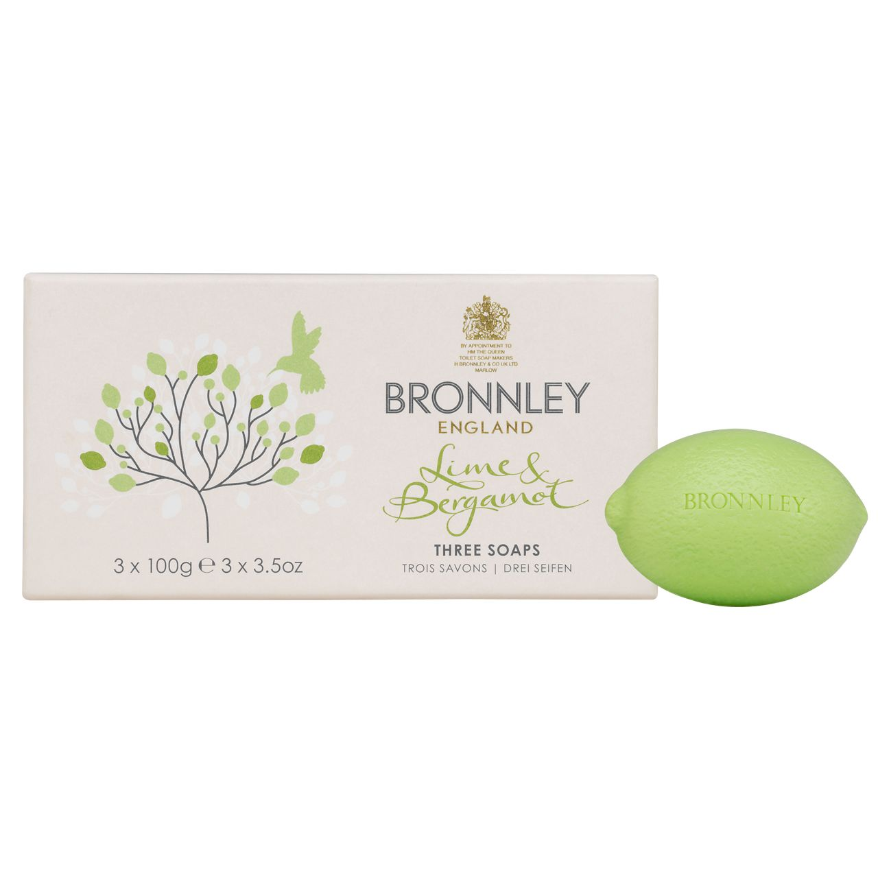 Lime and Bergamot 3x100g Soap