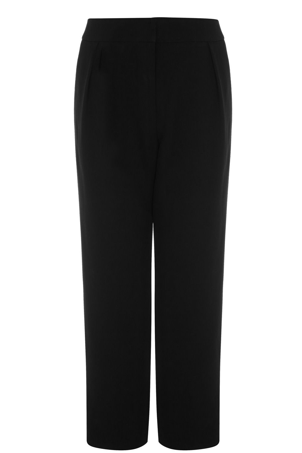 Cropped curved leg trousers