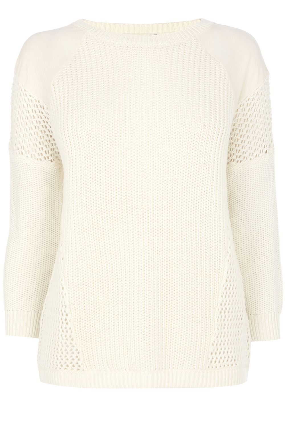 Woven shoulder stitch block jumper