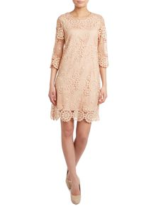 Crochet 3/4 sleeve lace tunic