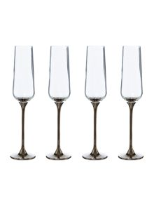 Flute Platinum stem set of 4
