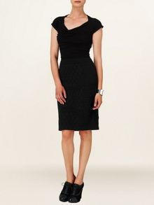 Rhian textured pencil skirt