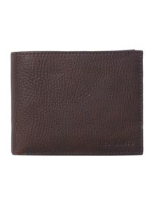 Leather coin pocket and card holder wallet