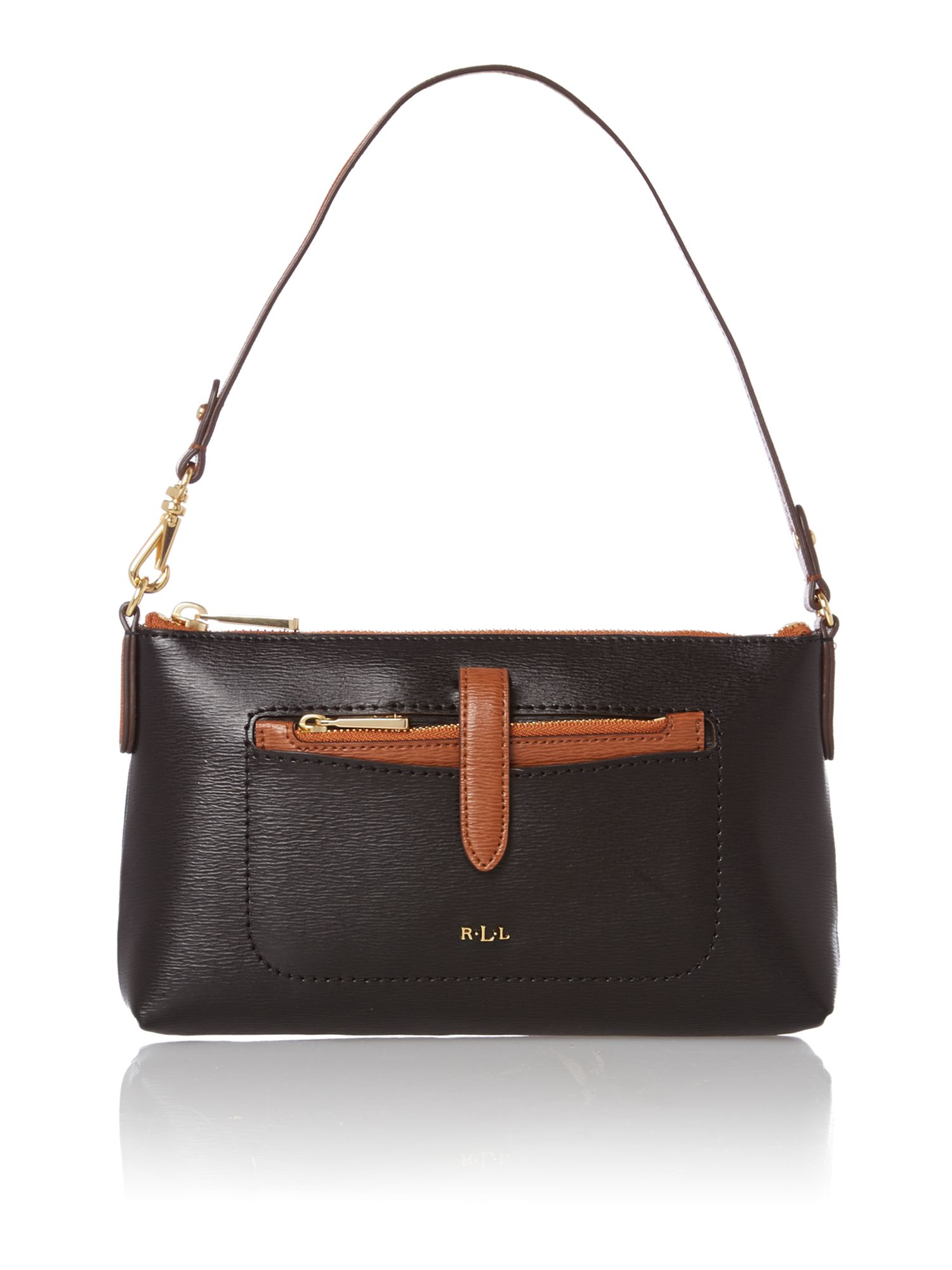 Davenport black small shoulder bag