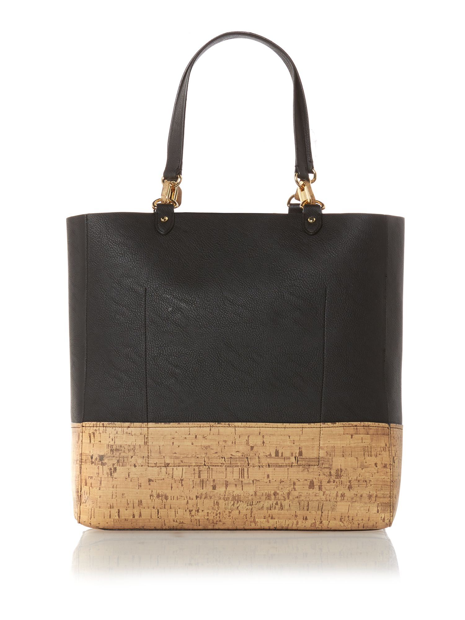 Bembridge black cork tote bag