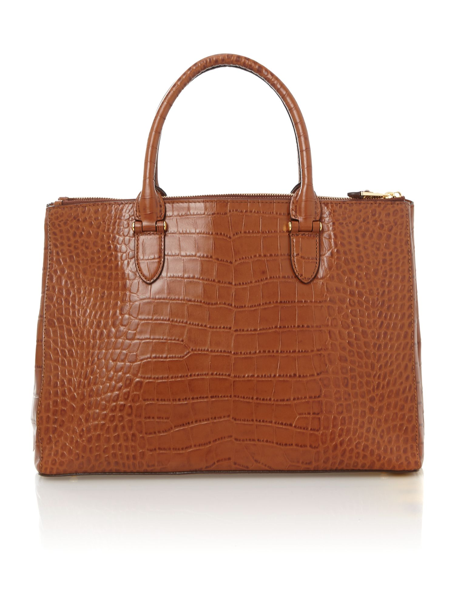 Lanesborough blue croc double zip tote bag