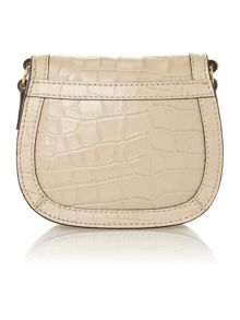 Lanesborough neutral croc cross body bag