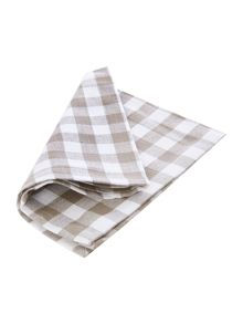 Stone Check Napkins Set of 4
