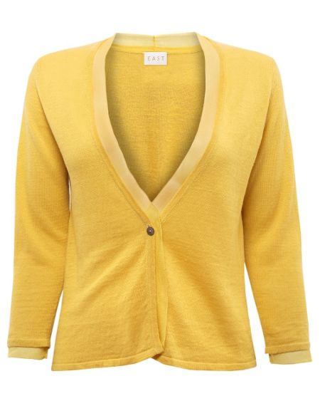 East Silk trim cardigan