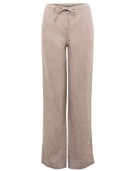 East Cross dye linen drawstring trouser