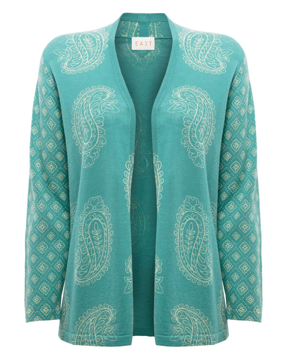 Paisley edge to edge cardigan
