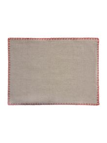 Red Blanket Stitch Placemats Set of 2