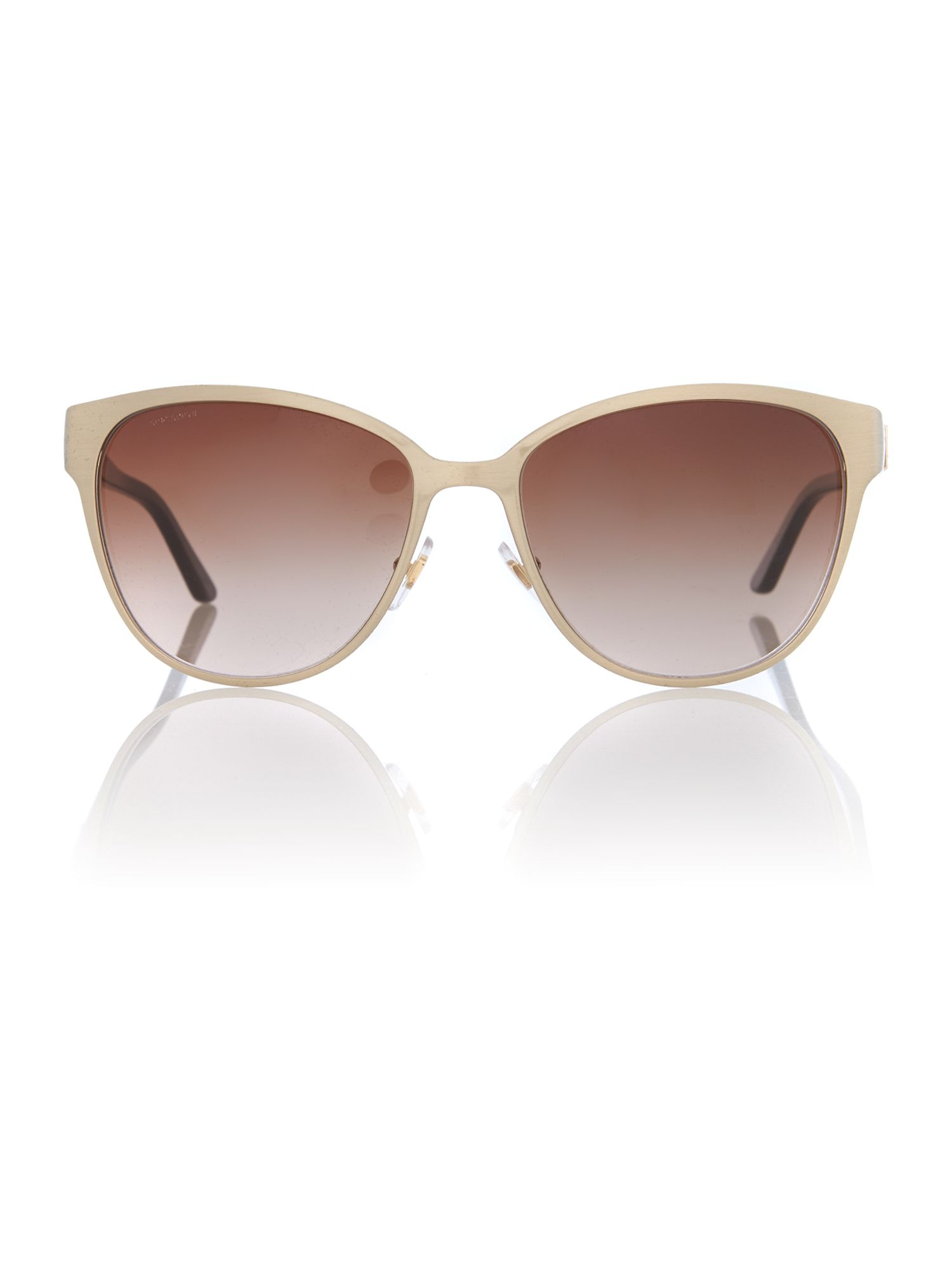 Women brown gradient squared sunglasses