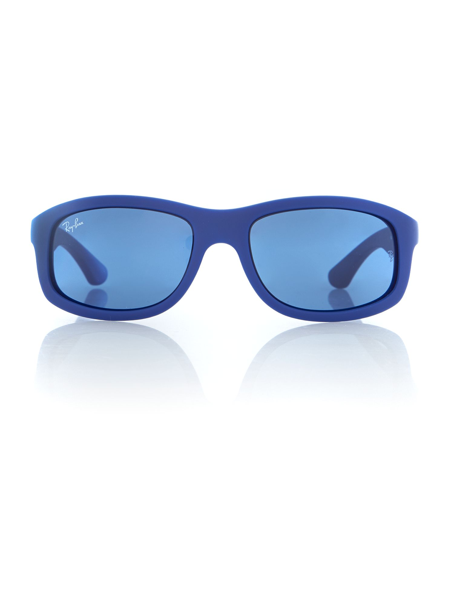 Men blue rectangle sunglasses
