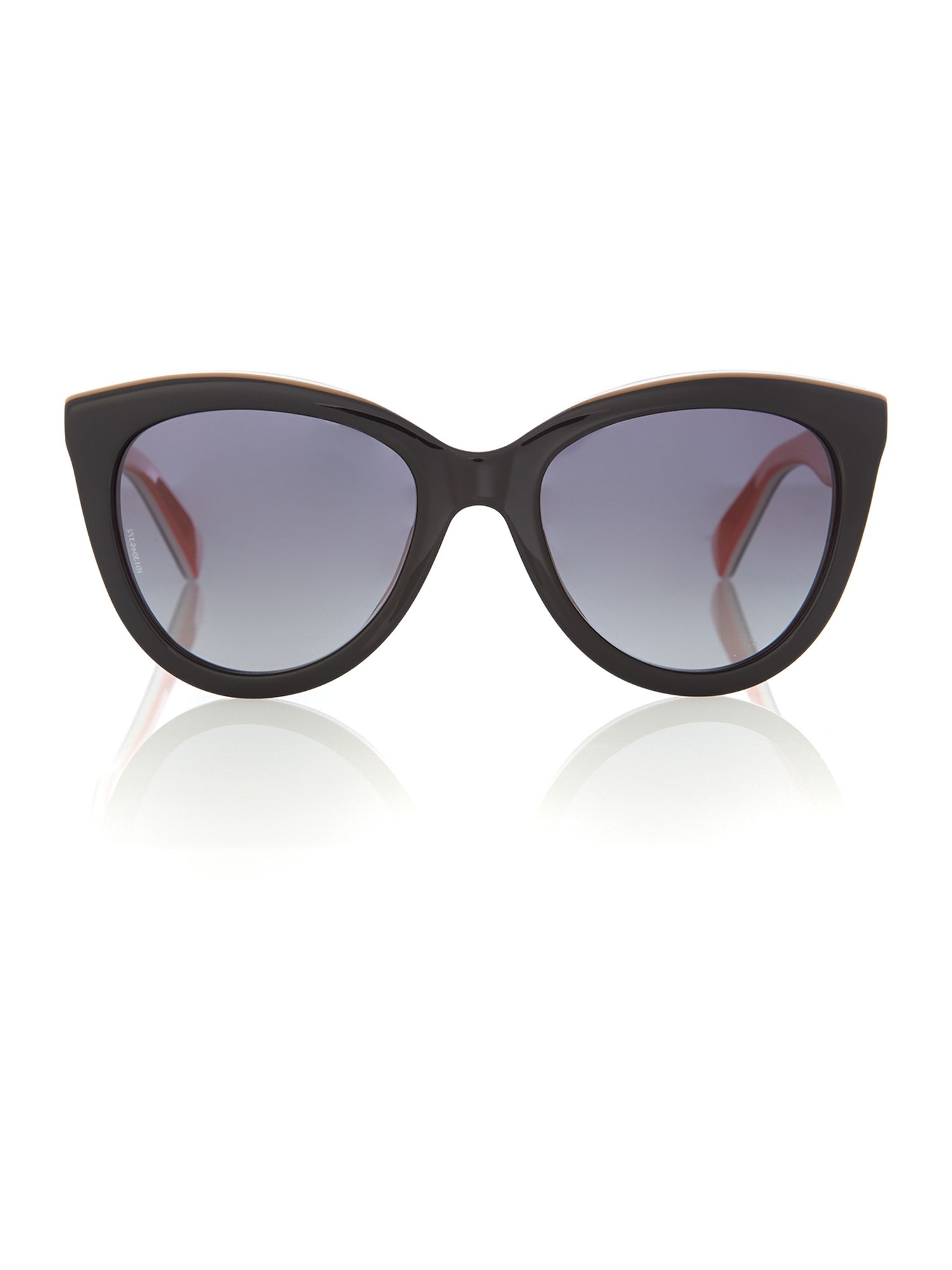 Women`s polar grey gradient cat-eye sunglasses
