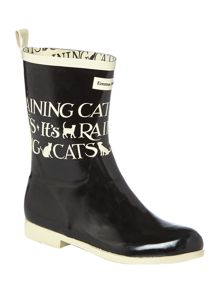 Toast cats and dogs short welly boot