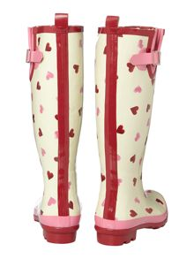 Hearts tall wellie boot