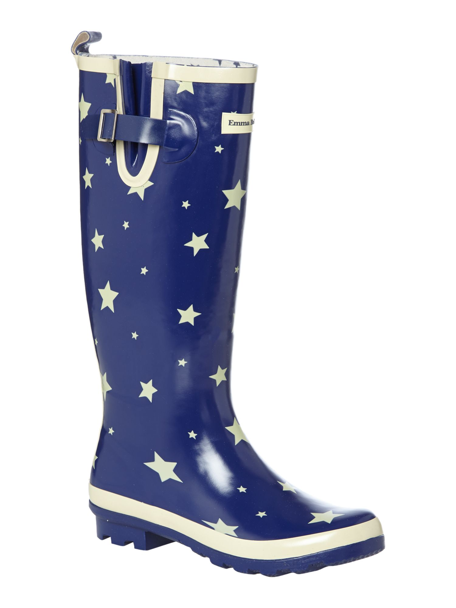 Starry skies tall welly boot