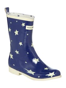 Emma Bridgewater Starry skies short welly boot