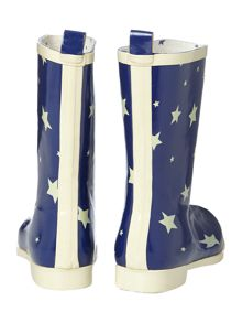 Starry skies short welly boot