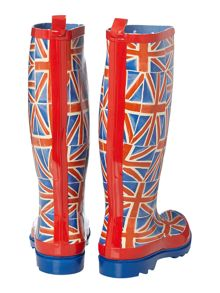 Union jack tall welly boot