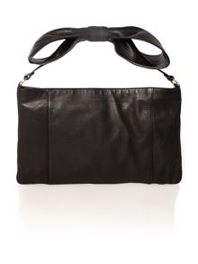 Black bow shoulder bag