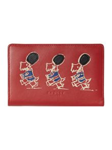 March the march red medium zip around purse