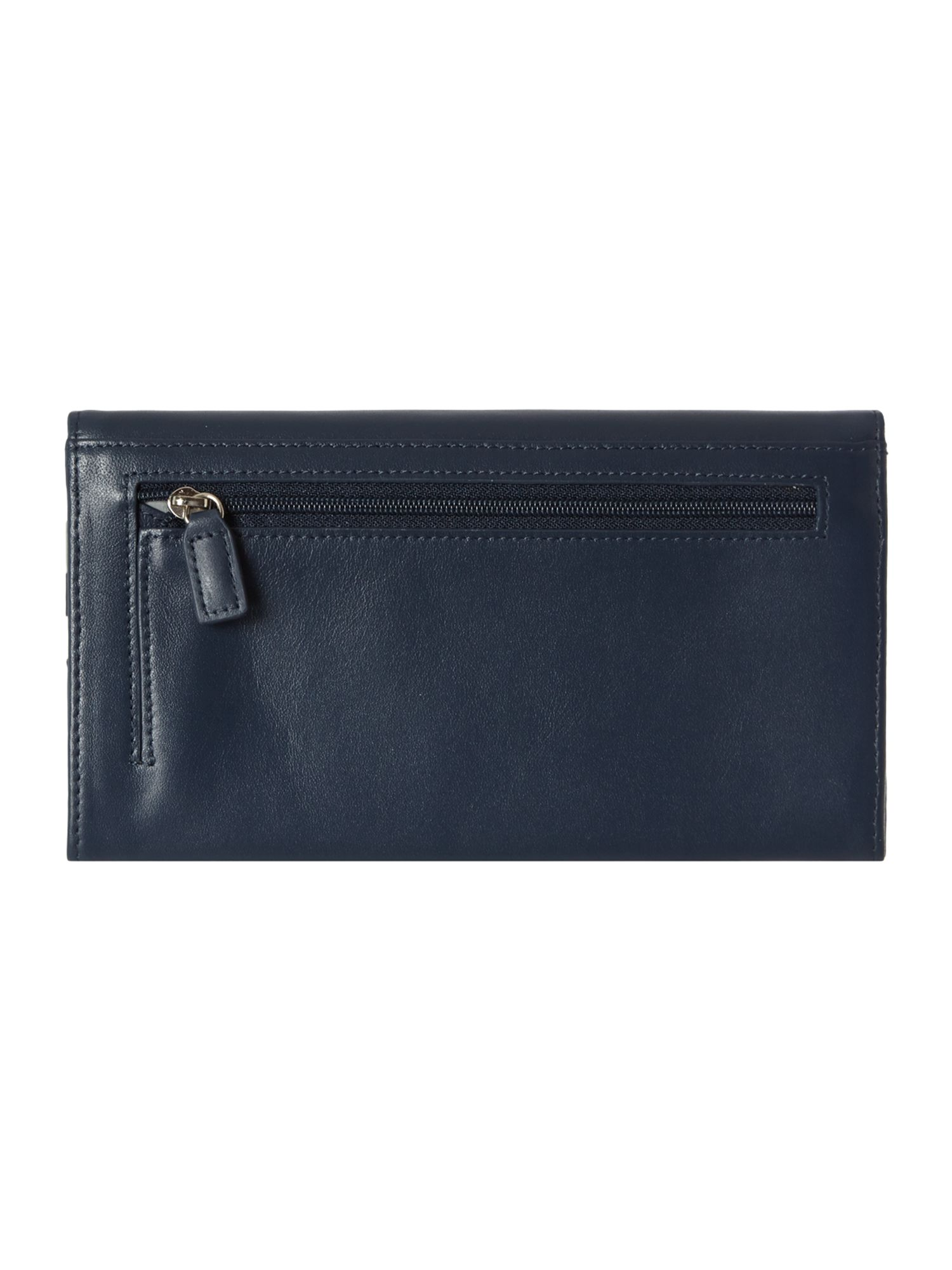 March the march navy large flapover matinee purse