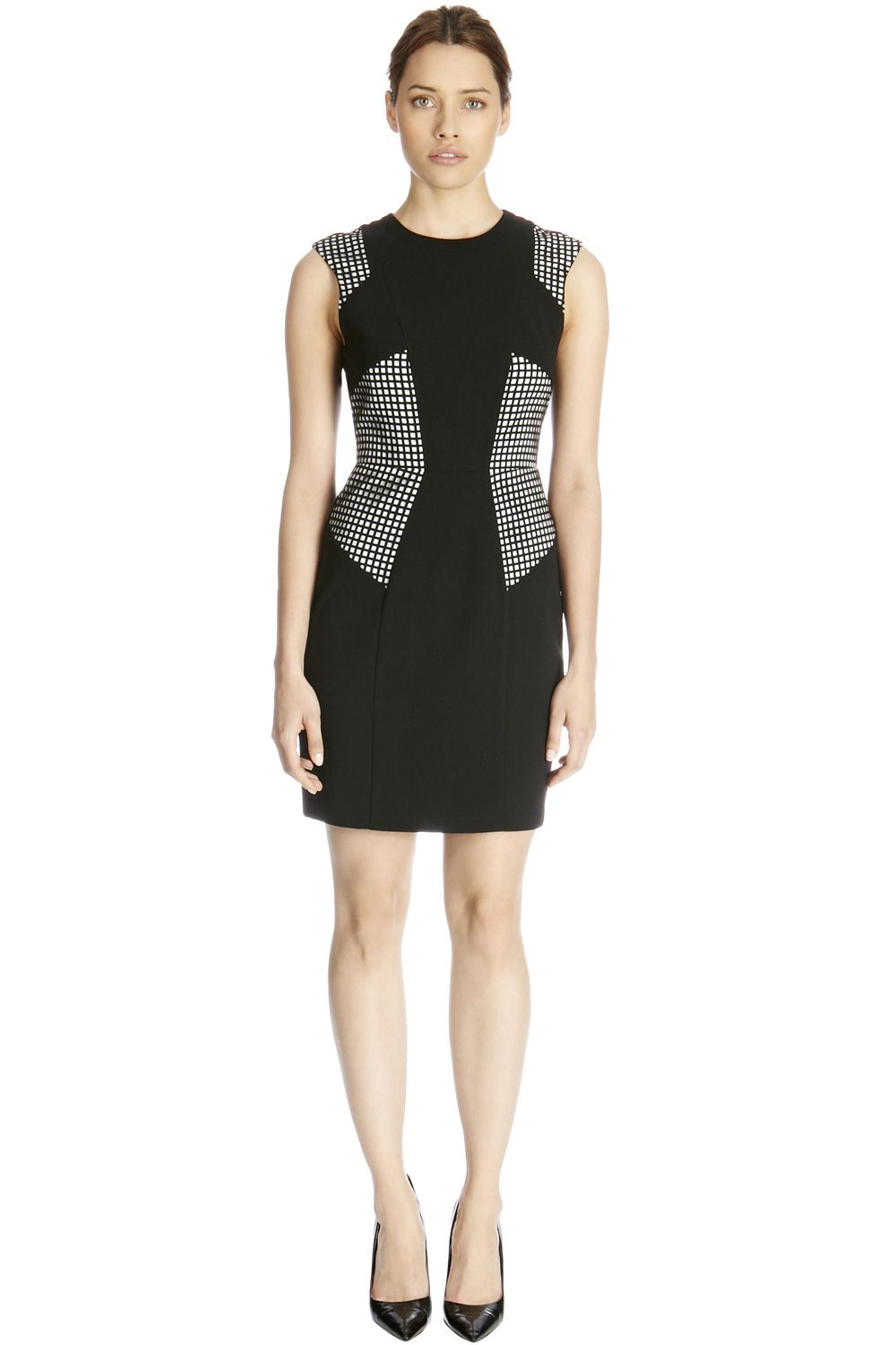 Crepe lazer cut dress