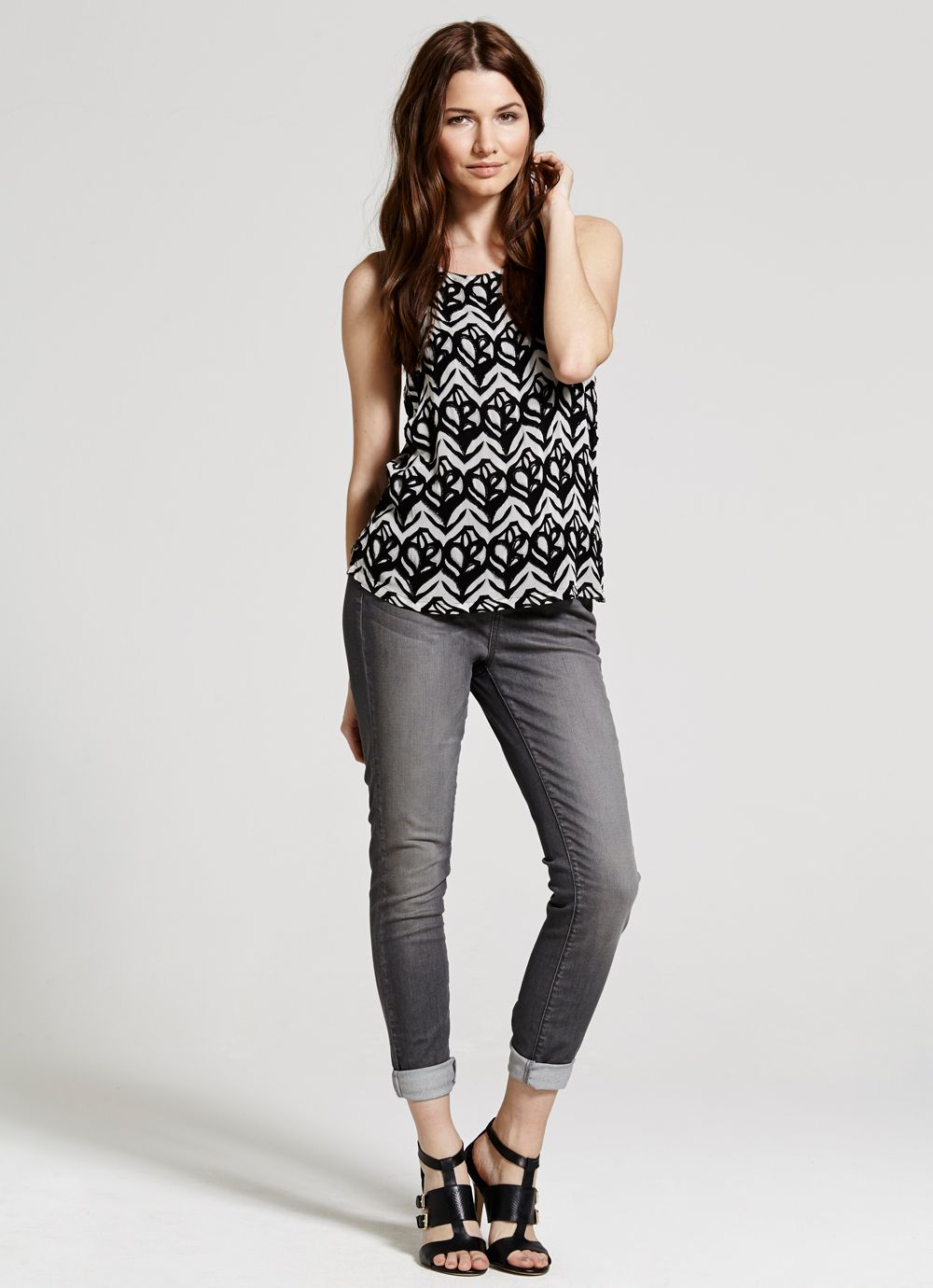 Faith print top