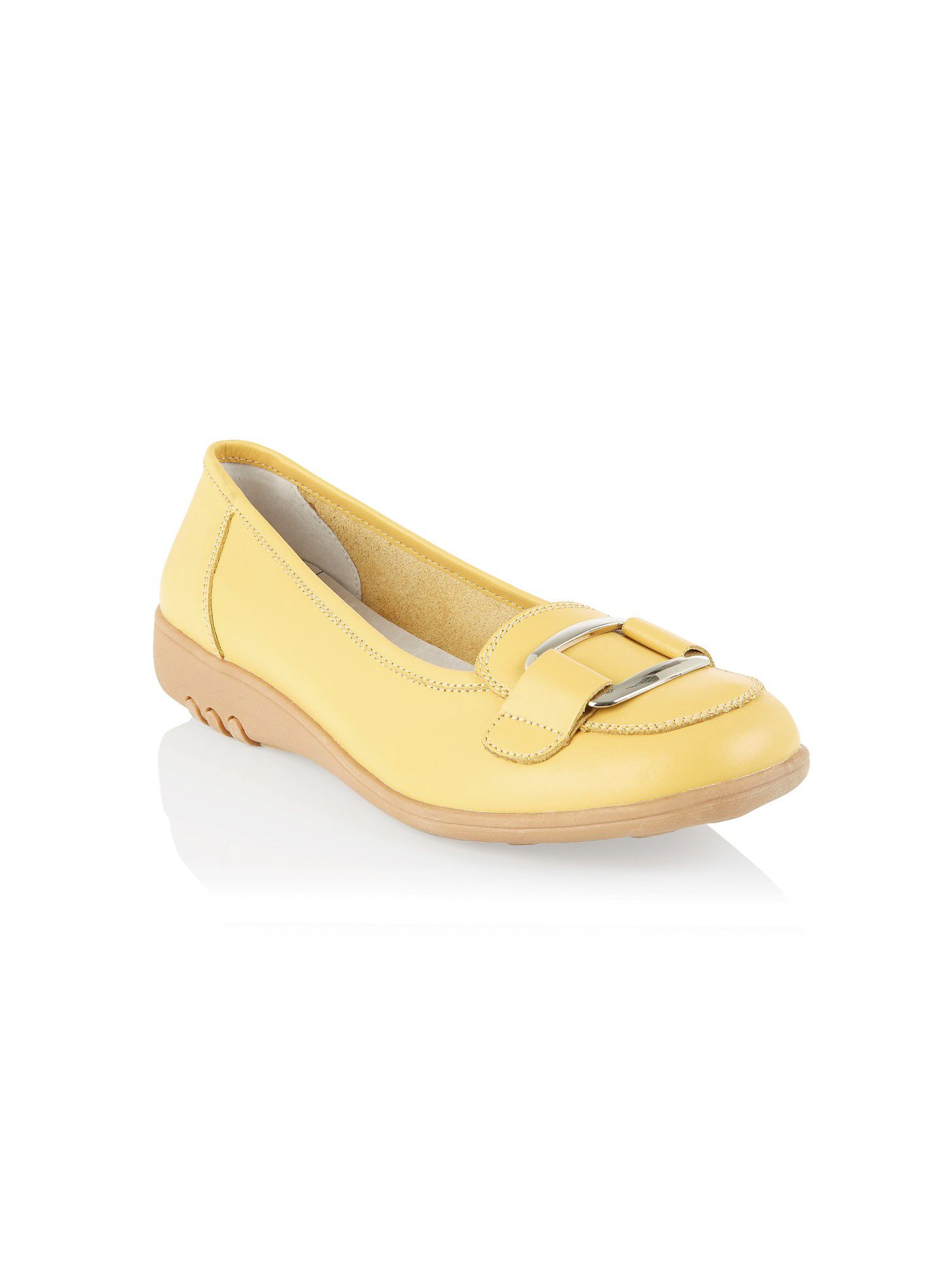 Yellow square trim loafer