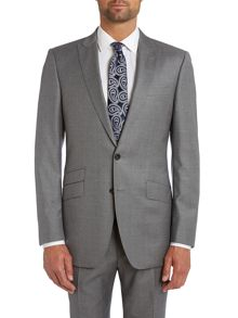 Twill regular fit peak lapel suit jacket