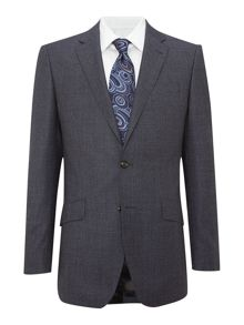 Birdseye regular fit suit jacket