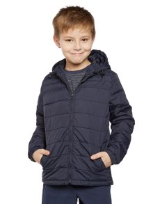 Boys padded jacket with hood