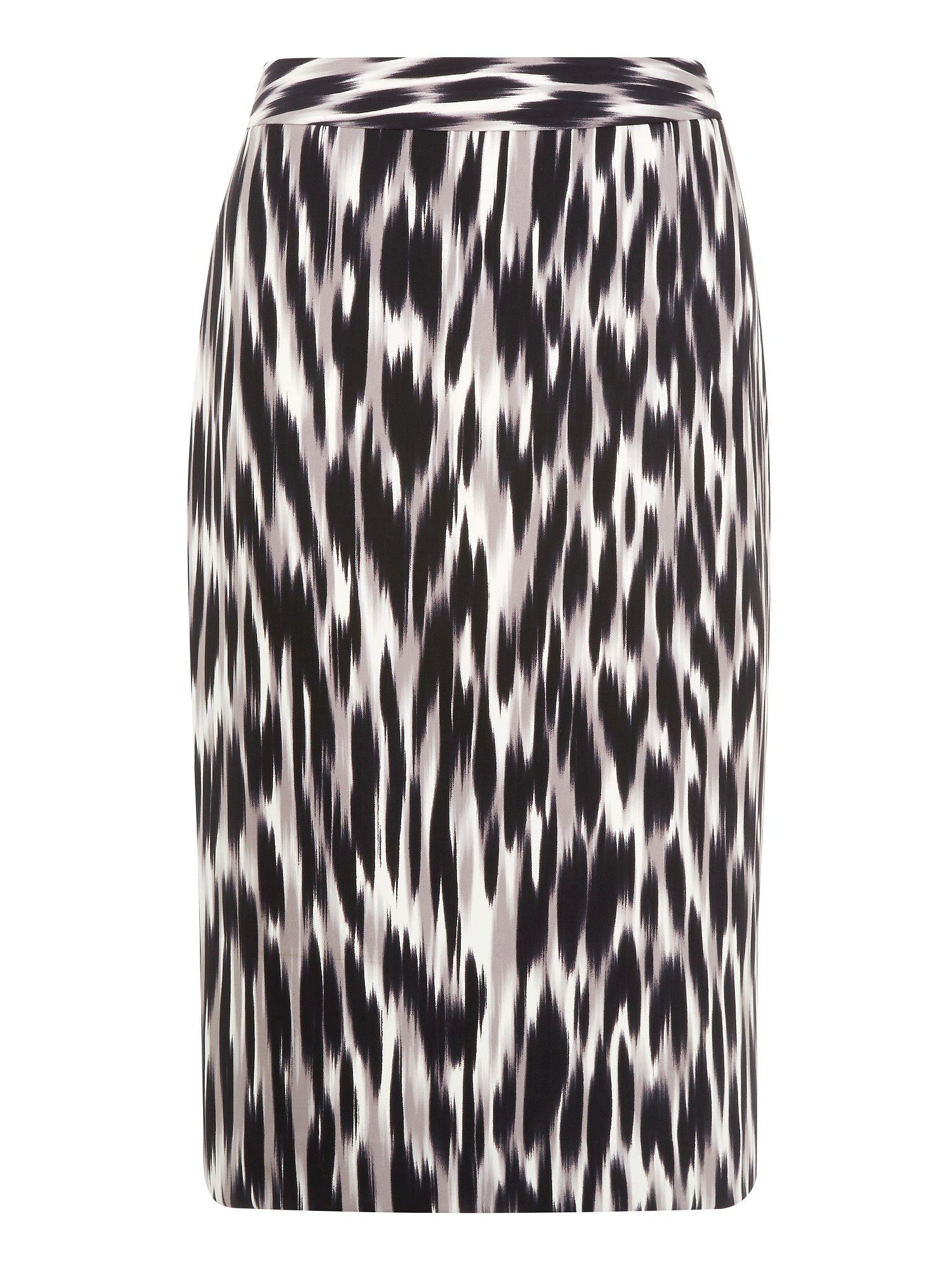Hazy animal print pencil skirt
