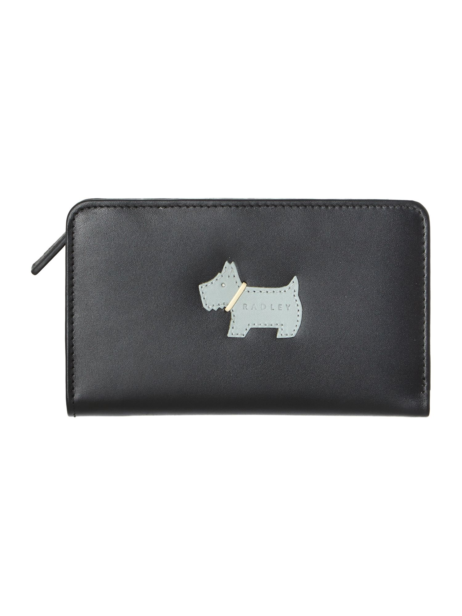 Heritage dog black medium zip around purse