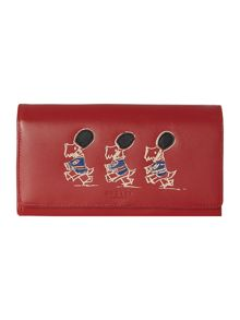 March the march red large flapover matinee purse