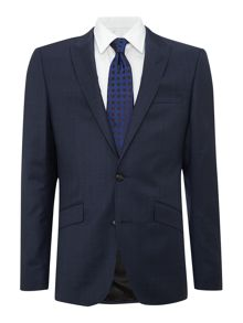 Shadow check slim fit suit jacket